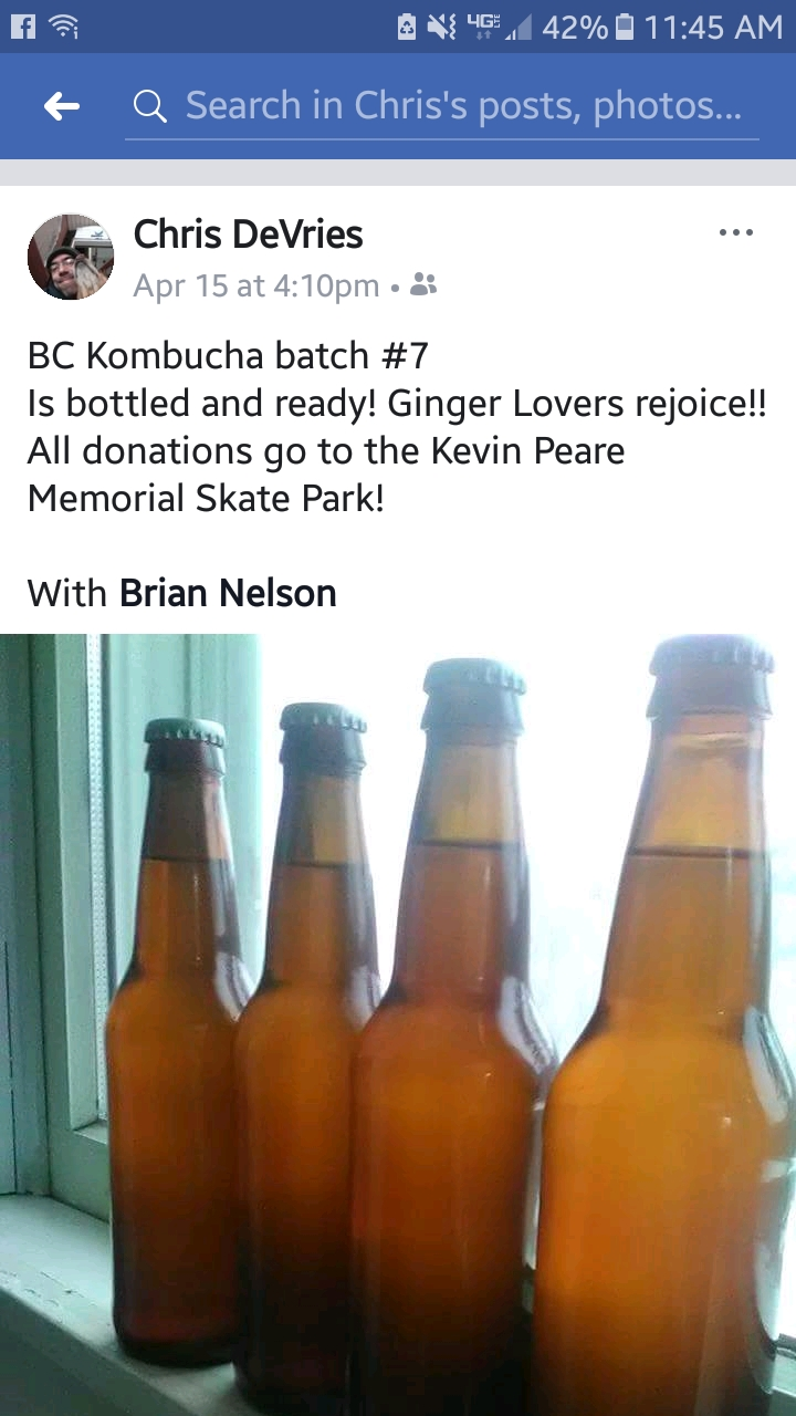 Kombucha for Kevin!